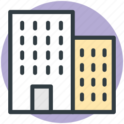 building, hotel, inn, residential building icon