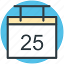 date, calendar, yearbook, day, schedule icon