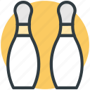 bowling pins, hitting pins, bowling game, alley pins, skittle icon