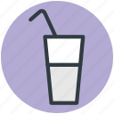 straw, juice, cold drink, drink, soda water icon
