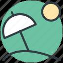 adventure, beach, holiday, parasol, sun icon
