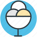 dessert, frozen dessert, icecream, icecream scoops, sweet food icon