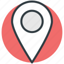 gps, location marker, location pin, map locator, map pin icon