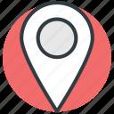 gps, location marker, location pin, map locator, map pin icon