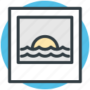 nature, ocean, scenery, sky, sunset icon