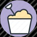 bucket, playtime, sandcastle, seaside, spade icon