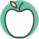 apple, food, fresh food, fruit, healthy diet icon