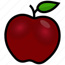 apple, education, fitness, food, fruit, health, nutrition icon