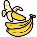 banana, food, fruit, health food