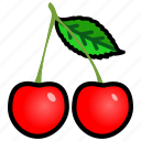 berries, cherry, food, fruit, kitchen, vegetable icon