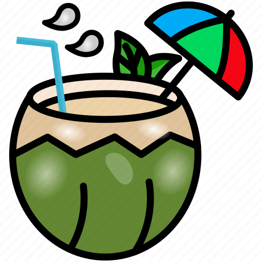 Coconut, coconut palm, fruit, healthy diet, water icon - Download on Iconfinder