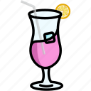 beverage, cocktail, cup, glass, juice icon