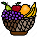 basket, food, fruit, garden, harvest, natural, salads