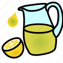 drink, jug, lemon, lemonade, refreshing icon