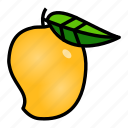 food, fruit, healthy, mango, tropical, yellow