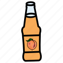 apricot, bottle, fruit, healthy food, juice, peach