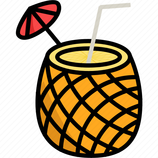 Beach, food, fruit, pineapple, summer, water icon - Download on Iconfinder