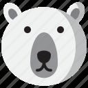 avatar, bear, christmas, cold, face, polar, winter