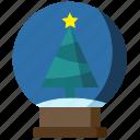ball, christmas, decoration, globe, snow, tree, xmas