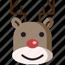 animal, avatar, celebrate, christmas, gift, holiday, reindeer