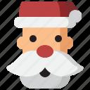 celebration, christmas, claus, hat, head, santa, xmas