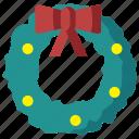 christmas, circle, decoration, holiday, holly, mistletoe, wreath