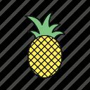 apple, healthy, pine apple icon