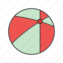 ball, beach, beach ball, summer, vacation icon