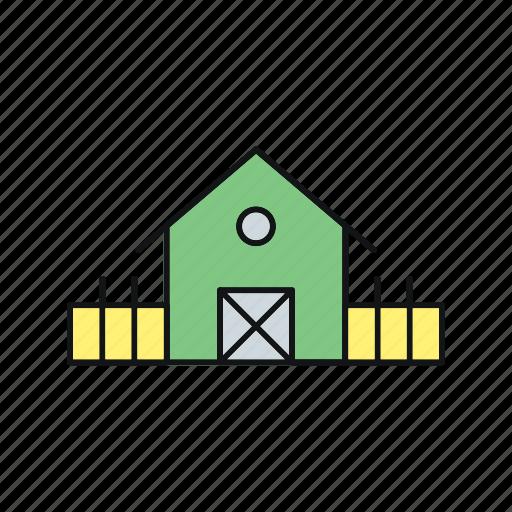 farm, farm house, house, summer icon