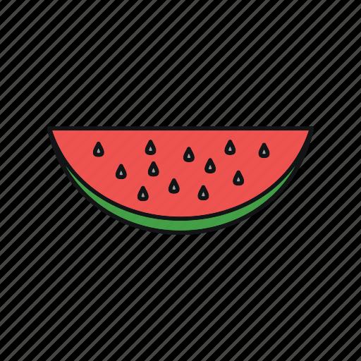 fruit, healthy, summer, watermelon icon