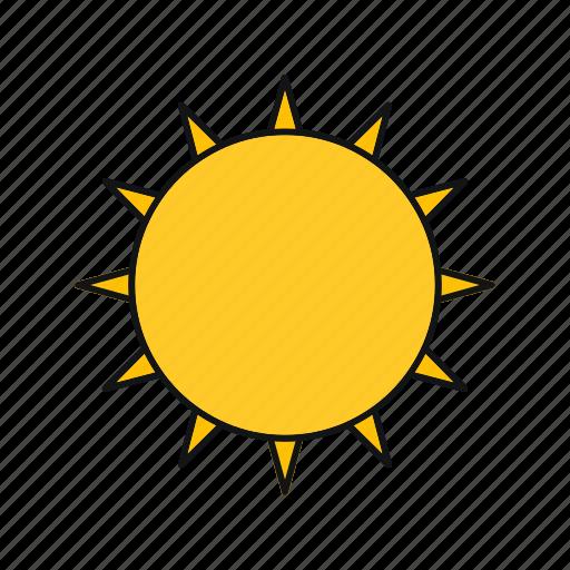 hot, summer, sun icon