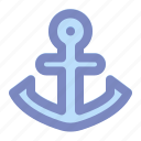 anchor, boat, holiday, marine, ship, summer, vacation icon