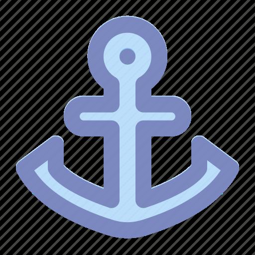 anchor, boat, holiday, marine, ship, summer, vacation icon