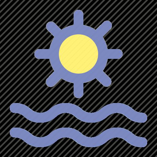 brightness, holiday, light, summer, sun, vacation, warm icon