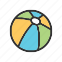 ball, beach, football, play, soccer, sport, summer icon