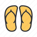 beach, feet, footwear, sandals, shoes, summer, walk icon