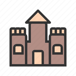 beach, castle, construct, play, sand, sand castle, vacation icon