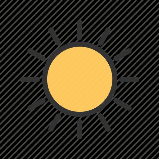 heat, sky, solar, summer, sun, sunlight, weather icon