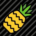 pineapple, fruit, tropical, vitamin, juicy, fresh, nature
