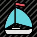 sailboat, yacht, sea, boat, sail, summer, adventure