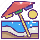 beach, holidays, nature, summer, sun, umbrella, vacations icon