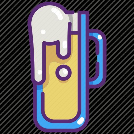 alcohol, bar, beer, drink, food, mug, pint icon