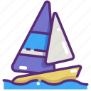 boat, holidays, sail, sailboat, sailing boat, sport, travel icon