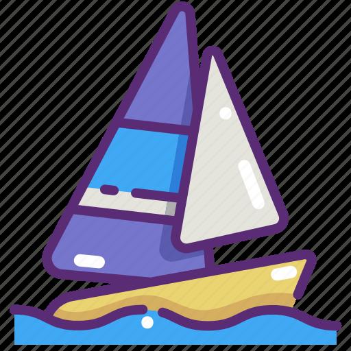 boat, holidays, sail, sailboat, sailing boat, sport, travel icon