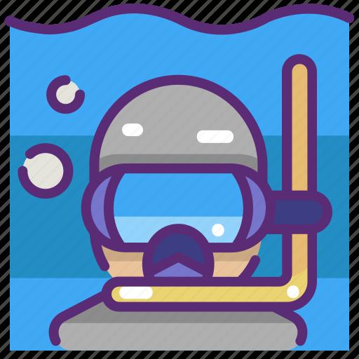 activity, diver, diving, scuba, sport, sporty, underwater icon