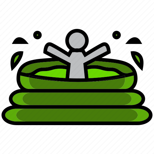 hole, holiday, hot, pool, reservoir, summer, weather icon