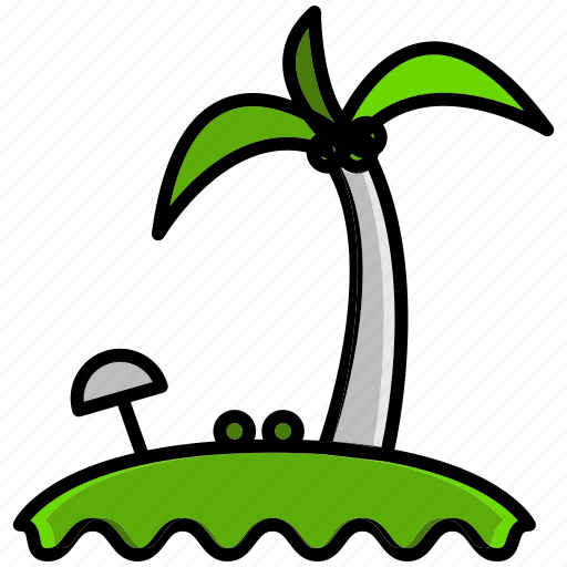 beach, holiday, hot, island, sand, summer, weather icon