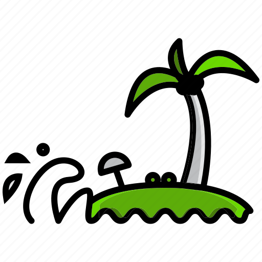 holiday, hot, summer, swell, waft, wave, weather icon
