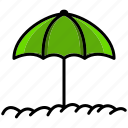 brolly, holiday, hot, silk, summer, umbrella, weather icon