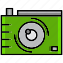 camera, holiday, hot, portrait, summer, weather icon